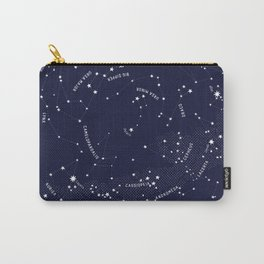 Constellation Map - Indigo Carry-All Pouch