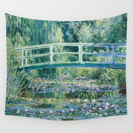 1899-Claude Monet-Water Lilies and Japanese Bridge Wall Tapestry
