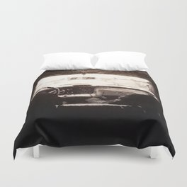 Supernatural: Black & White Backseat Duvet Cover
