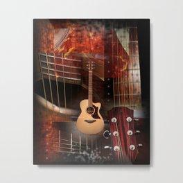The acoustic guitar Metal Print