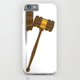 Judges Gravel iPhone Case