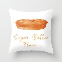 Baked Goods Sugar Butter Flour Baking Baker Throw Pillow