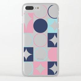 Mid Century Pink Sea Salt Clear iPhone Case