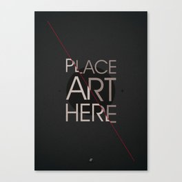 The Art Placeholder Canvas Print