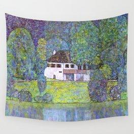 """Gustav Klimt """"Schloss Kammer on the Attersee III"""" Wall Tapestry"""