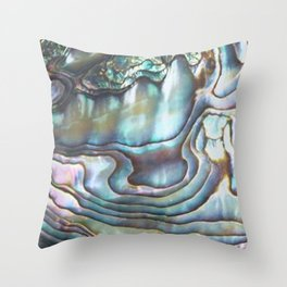 Shimmery Pastel Abalone Shell Throw Pillow
