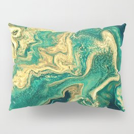 M A R B L E - emerald & brass Pillow Sham