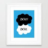 okay Framed Art Prints featuring Okay by alboradas