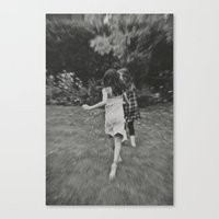 running Canvas Prints featuring Running... by azyalg