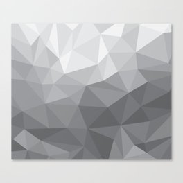 Gray Polygon Background Canvas Print