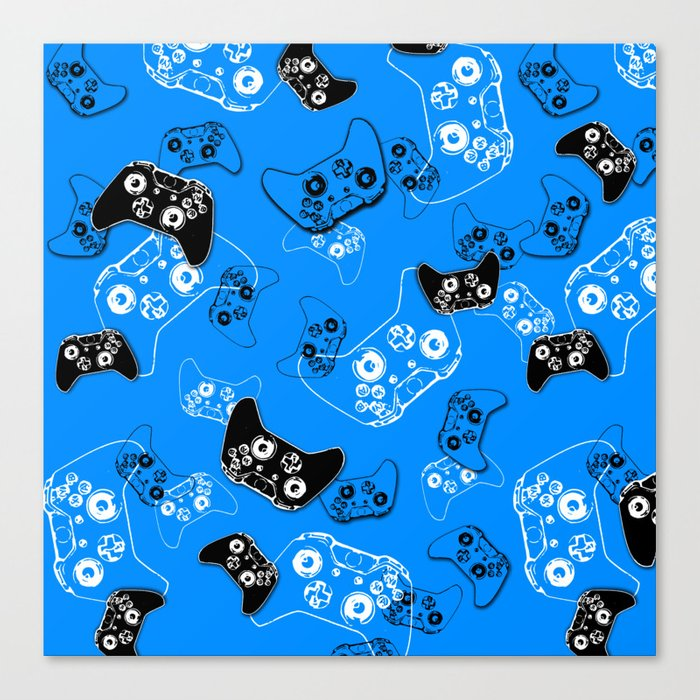 Video Game in Blue Canvas Print