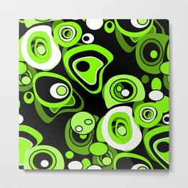 Abstract pattern black and green background . Metal Print