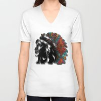 navajo V-neck T-shirts featuring Navajo by Skye