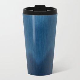 Wavy Digital Denim Blue Jean Pattern Metal Travel Mug