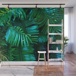 Green Palm Leaves Wall Mural
