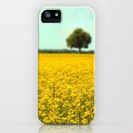 Yellow Fields iPhone Case