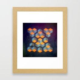 Geo Blur Framed Art Print