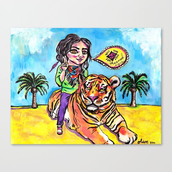 Charmed Tiger Canvas Print