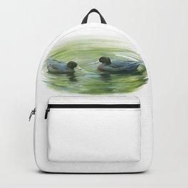 Blue Ducks in pond Backpack