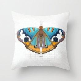 calm: buckeye butterfly Throw Pillow