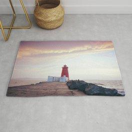 (RR300) Poolbeg lighthouse in Dublin - Ireland Rug