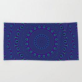 Trippy Kaleidoscope Beach Towel