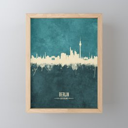 Berlin Germany Skyline Framed Mini Art Print