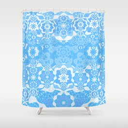 Boujee Boho Delicate Blue Lace Shower Curtain