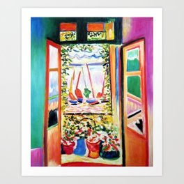 The Open Window Coastal - Floral and Maritime Collioure oil painting by Henri Matisse oil paint Art Print