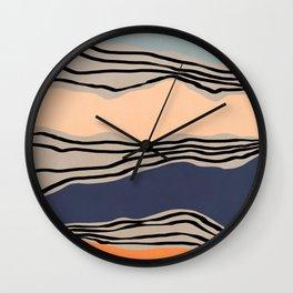 Modern irregular Stripes 09 Wall Clock