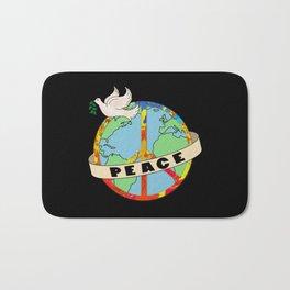 World Peace, Dove, Peace Sign, Earth Bath Mat