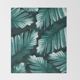 Tropical Banana Leaves Dream #2 #foliage #decor #art #society6 Throw Blanket