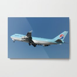 Korean Air Cargo 747-400F Metal Print