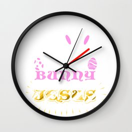 Easter Bunny No Bunny Loves Me Like Jesus Wall Clock