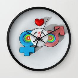 Candy PLUR 3D Wall Clock