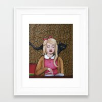 reading Framed Art Prints featuring Reading by Emma Berlin