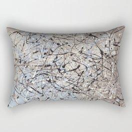 High Again - Jackson Pollock style abstract drip painting by Rasko Rectangular Pillow