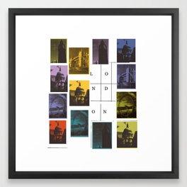 London Monuments Framed Art Print