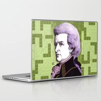 mozart Laptop & iPad Skins featuring Wolfgang Amadeus Mozart by Joseph Walrave