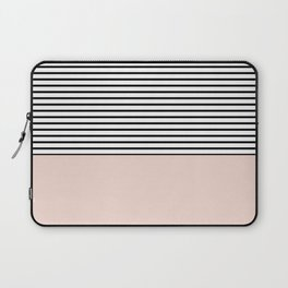 Half lines half soft pink Laptop Sleeve