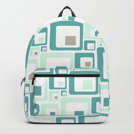 Retro Squares Mid Century Modern Background Backpack