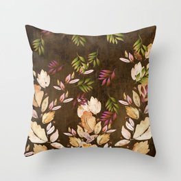 Just Leaves - Just Falling Leaves Throw Pillow