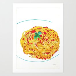 Spaghetti - Bon Appetit 11/XII Art Print