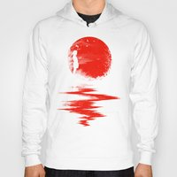 sun Hoodies featuring The Land of the Rising Sun by nicebleed