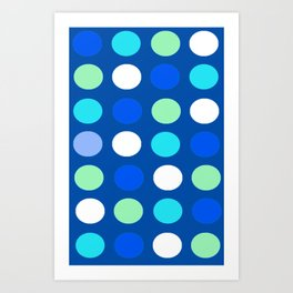 Coloured spots Art Print