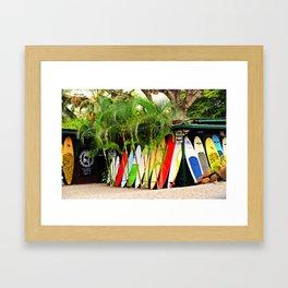 North Shore Surf '14 Framed Art Print