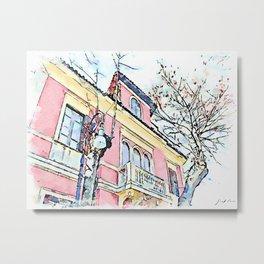 Camerata Nuova: pink house Metal Print