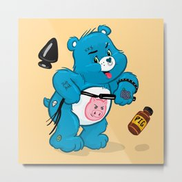 Dirty Bear Metal Print