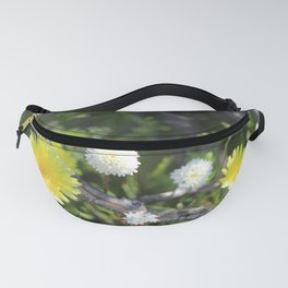 Yellow and White Desert Wildflowers of California by Reay of Light Fanny Pack