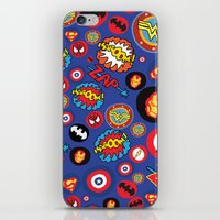 super hero iPhone & iPod Skins featuring Movie Super Hero logos by Nick's Emporium Gallery